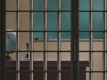 Classroom behind bars