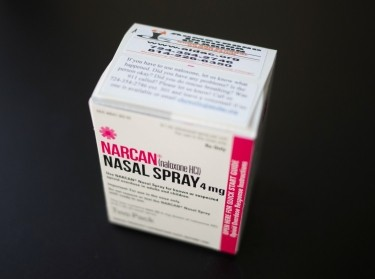 A box of NARCAN nasal spray is photographed at an outpatient treatment center in Indiana, Pennsylvania, U.S. on August 9, 2017. Picture taken on August 9, 2017. Photo by Adrees Latif/Reuters
