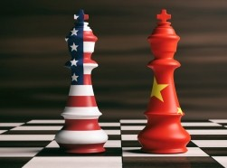 U.S. and CHina s chess kings