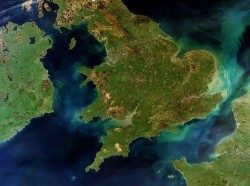 Cloud-free view of Great Britain and Ireland, taken from Envisat on 28 March 2012, photo by European Space Agency/CC BY-SA 3.0 IGO