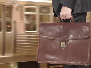 briefcase train commute