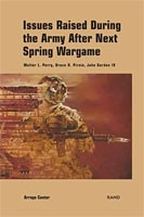 Cover: Issues Raised During the Army After Next Spring Wargame