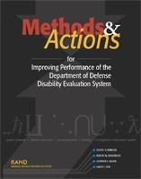 Cover: Methods and Actions for Improving Performance of the Department of Defense Disability Evaluation System