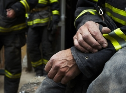 firefighter hands