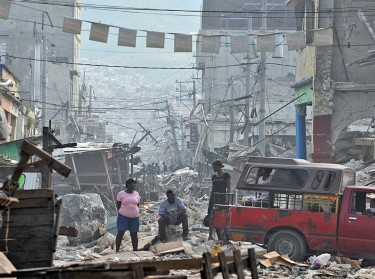 Aftermath of earthquake in Haiti