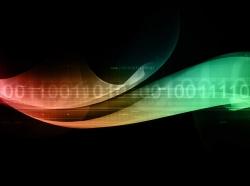 binary cyber wave graphic