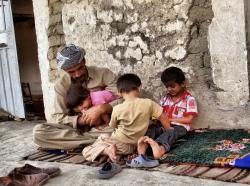 Kurdistan man and children
