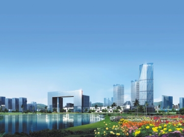 Artist's rendering of Knowledge City, Guangzhou, China
