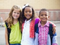 Preschool children standing in a group