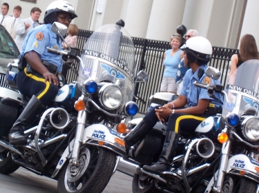 New Orleans police in Jackson Square