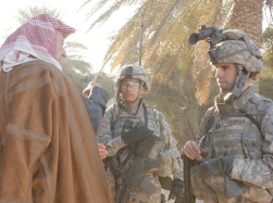 U.S. soldiers on COIN operation in Iraq