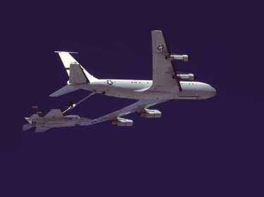 X-35A Joint Strike Fighter being refueled by a KC-135 tanker