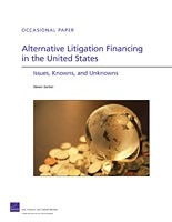 Cover: Alternative Litigation Financing in the United States