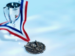 medal and trophy