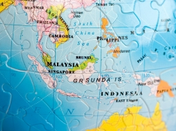 Puzzle map of Southeast Asia
