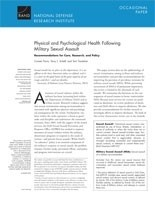 Cover: Physical and Psychological Health Following Military Sexual Assault