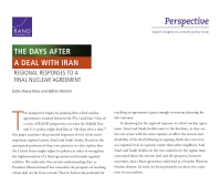 Cover: The Days After a Deal with Iran