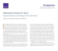 Cover: Alternative Futures for Syria