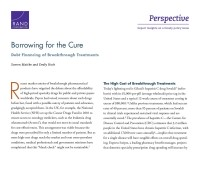 Cover: Borrowing for the Cure