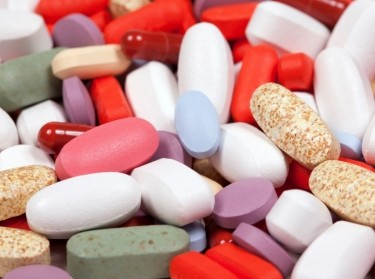 Assorted colorful pills and capsules of medication
