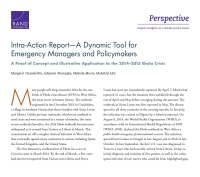 Cover: Intra-Action Report — A Dynamic Tool for Emergency Managers and Policymakers