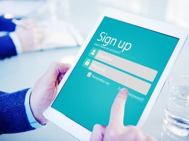 Simple online signup form