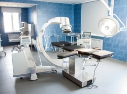 Operating room with medical equipment