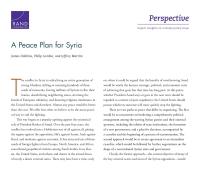 خطة سلام لسوريا