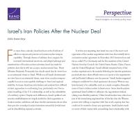 سياسات إسرائيل بشأن إيران بعد الاتفاق النووي