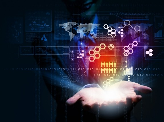Data over open hands