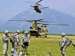 U.S. Army, Air Force, and Italian paratroopers conduct joint airborne operations in Vicenza, Italy, July 16, 2013