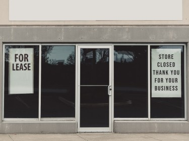 A retail store closed permanently, photo by shaunl/Getty Images
