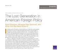 """美国外交政策中""""迷失的一代"""" 美国影响力的衰退与拯救"""