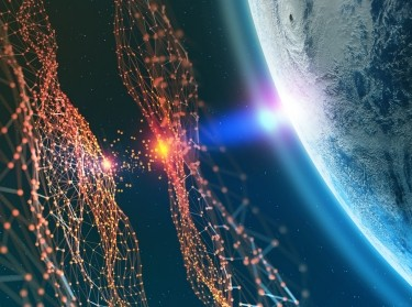 Big data concept, global communication networks of planet earth. Data storage system. 3D illustration of Artificial Intelligence. Elements of this image are furnished by NASA, photo by NASA/Siarhei/AdobeStock