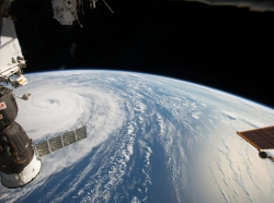 Super Typhoon Noru photographed by ISS astronaut Randy Bresnick above the Northwestern Pacific Ocean on August 1, 2017, photo courtesy of NASA