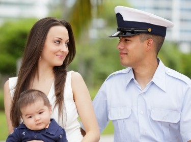 serviceman and family