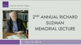 2nd Annual Richard Suzman Memorial Lecture