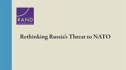 Rethinking Russia's Threat to NATO