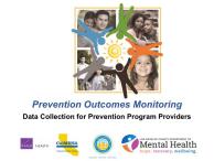 Data Collection for Prevention Program Providers Webinar