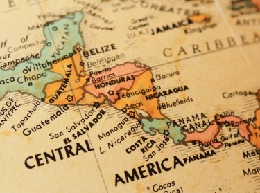 Central America on a globe, photo by Bobtokyoharris/Getty Images