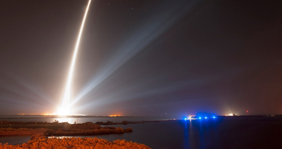 A Delta IV rocket successfully launches the Global Positioning System IIF-5 satellite Feb. 20, 2014 from Space Launch Complex-37 at Cape Canaveral Air Force Station, Fla.