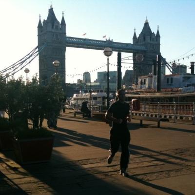 London, Tower Bridge runner