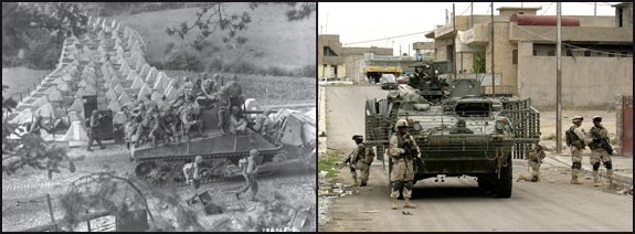 U.S. Army medium-armored forces during World War II and Operation Iraqi Freedom