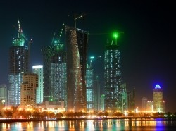 Doha, Qatar at night