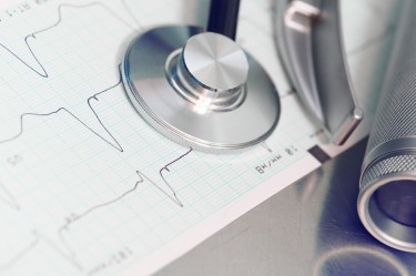 Stethoscope with heart rate printout