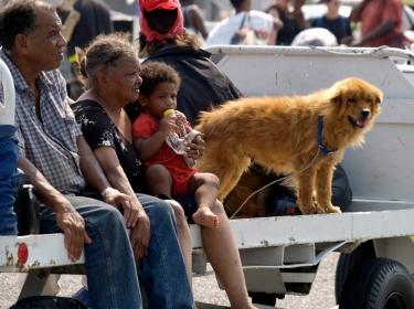 Katrina evacuees in New Orleans