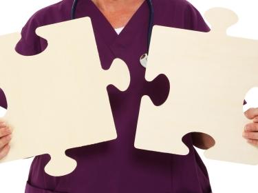 nurse with puzzle pieces
