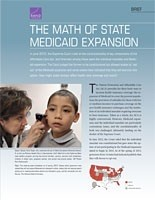 Cover: The Math of State Medicaid Expansion