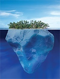 The island is only the tip of the iceberg.