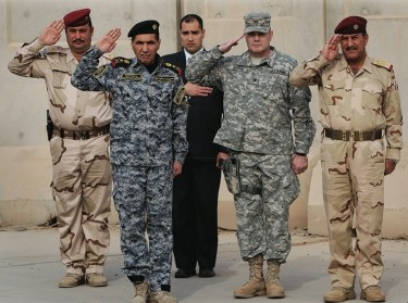 U.S. military and Iraqi Army officers